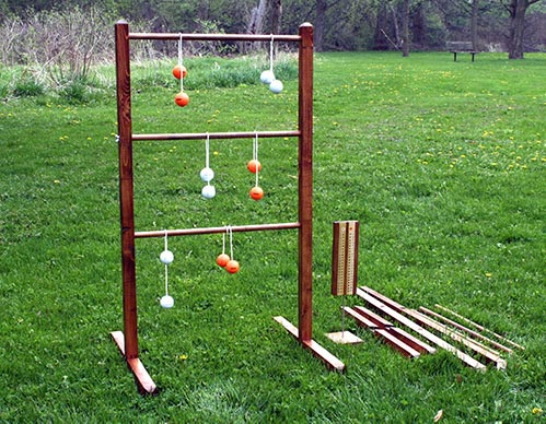 Wooden Ladder Ball Game