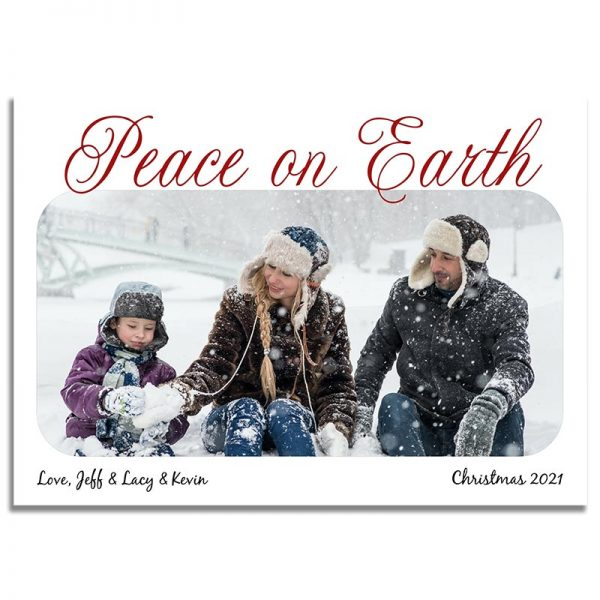 Downloadable Religious Christmas Greeting Card: Peace on Earth