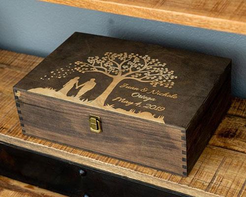 Custom 5th Anniversary Gifts - Wood Theme