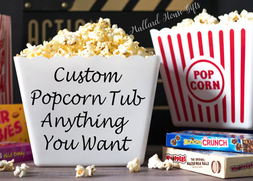 Personalized Popcorn Tubs