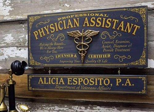 Profession Signs for Physician Assistants