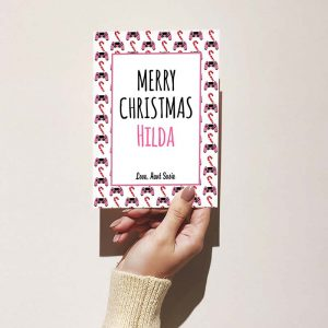 Pink Controller Pattern - Christmas Card