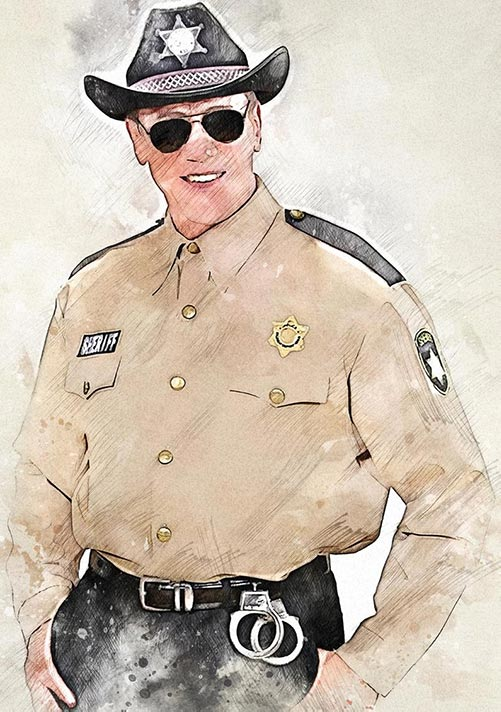 Custom Portraits for Police Officers
