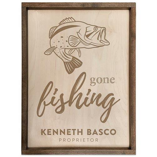 Personalized Fishing Retirement Plaque