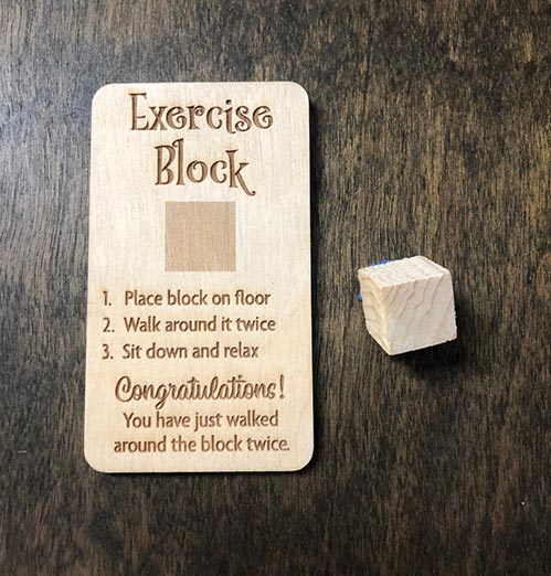Exercise Block - Funny Retired Gifts