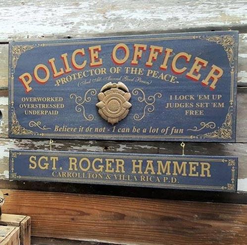 Vintage Police Officer Sign