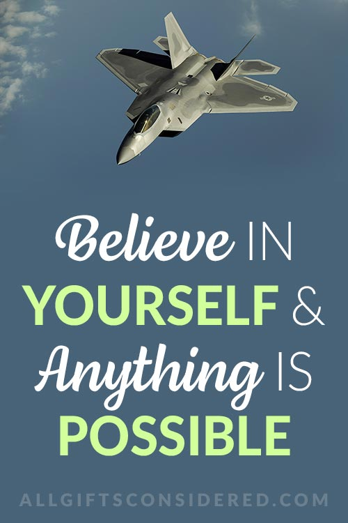 Positive Letters for Basic Training - Believe in Yourself