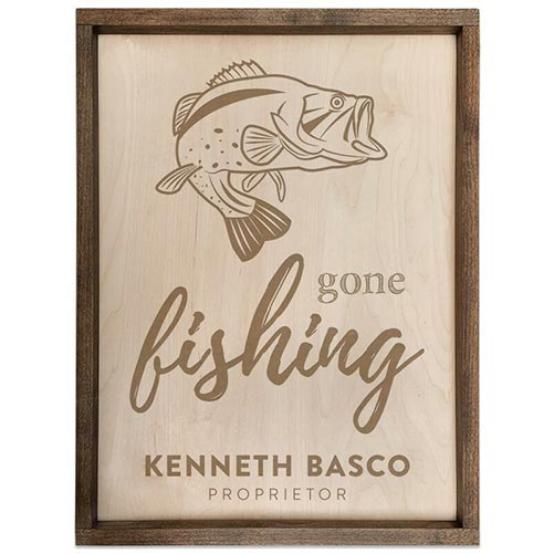 Personalized Gone Fishing Sign: Best Retirement Party Gift Ideas