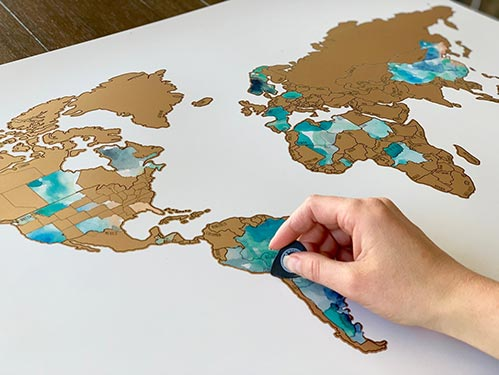 Travel Map: Best Retirement Party Gift Ideas