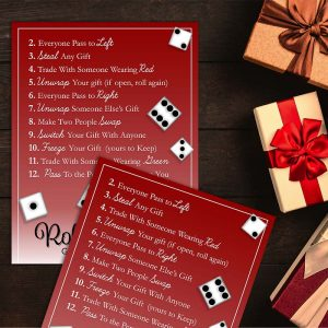 Sample Photo - Roll the Dice Gift Exchange Game
