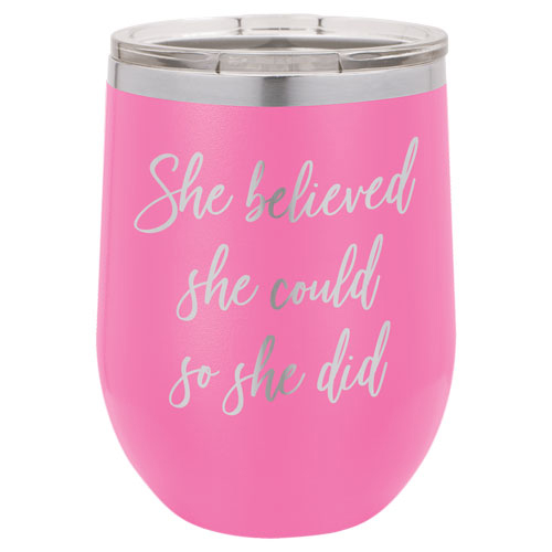 Personalized Pink Tumblers for Her