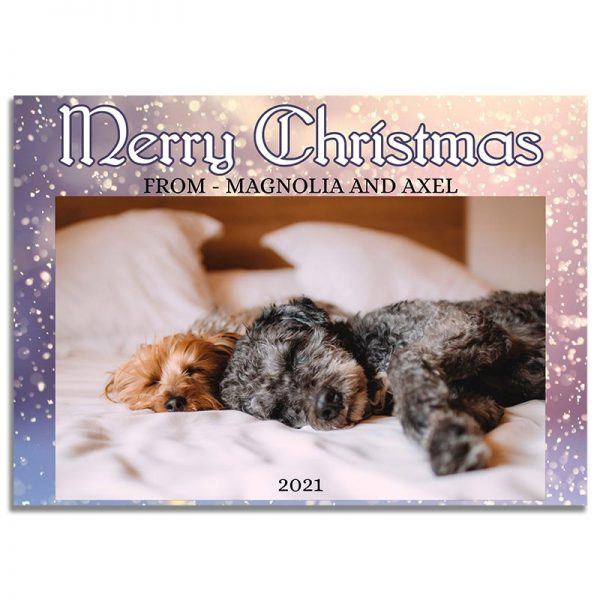 Downloadable Christmas Greeting Card: Snowy Pet Card