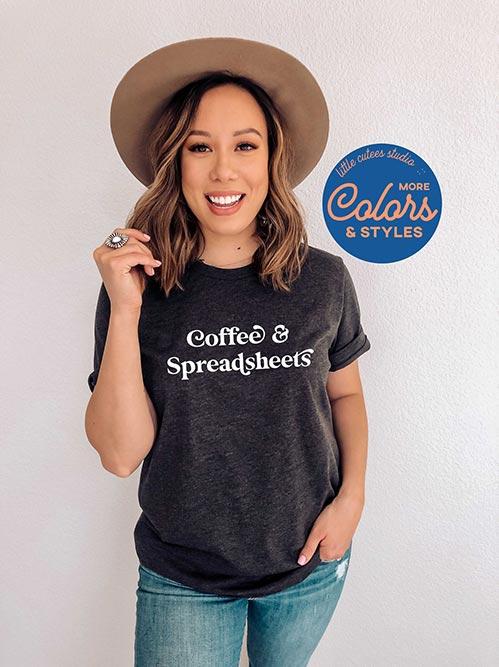 Coffee & Spreadsheets T-Shirt