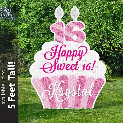 Large Sweet 16 Yard Sign