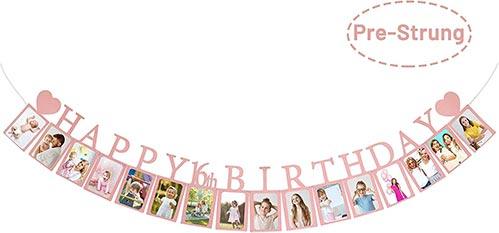 Happy 16th Birthday Photo Banner