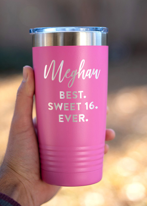 Personalized Pink Tumblers