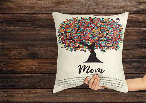 Message Tree Pillows for Mom