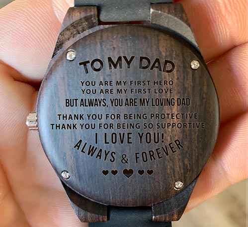 To My Dad- Personalized Watch