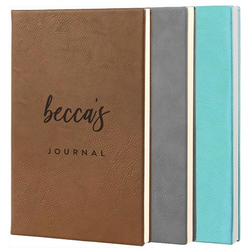 Personalized Thank You Leather Journals