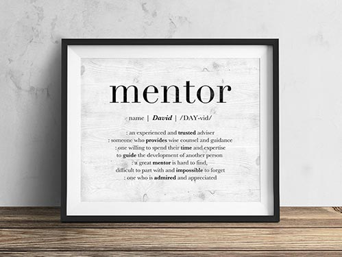 Simple Mentor Sign