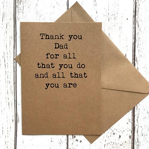 Thank You Cards for Dad