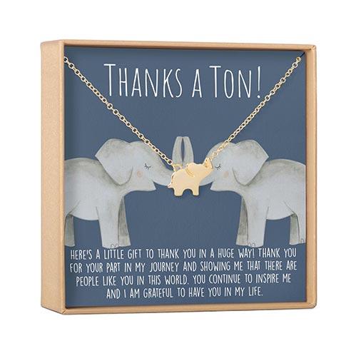 Thanks a Ton Elephant Necklace