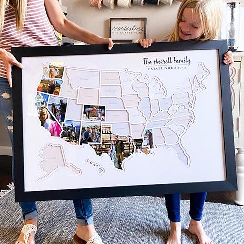 Personalized World Photo Map