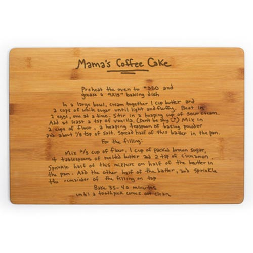 Personalized Recipe Cutting Board for Moms