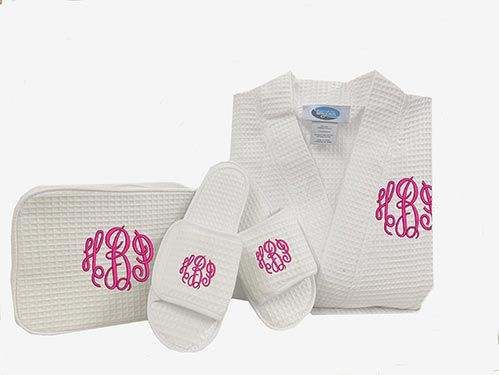 Monogrammed Slipper and Robe Set