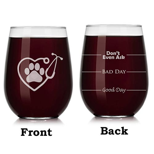Vet Tech Wine Glass
