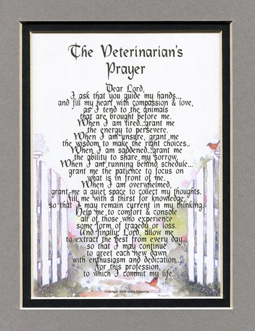The Veterinarian's Prayer