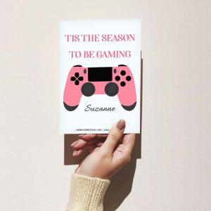 Pink Controller - Christmas Card
