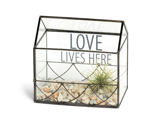 """Love Lives Here"" Terrarium"