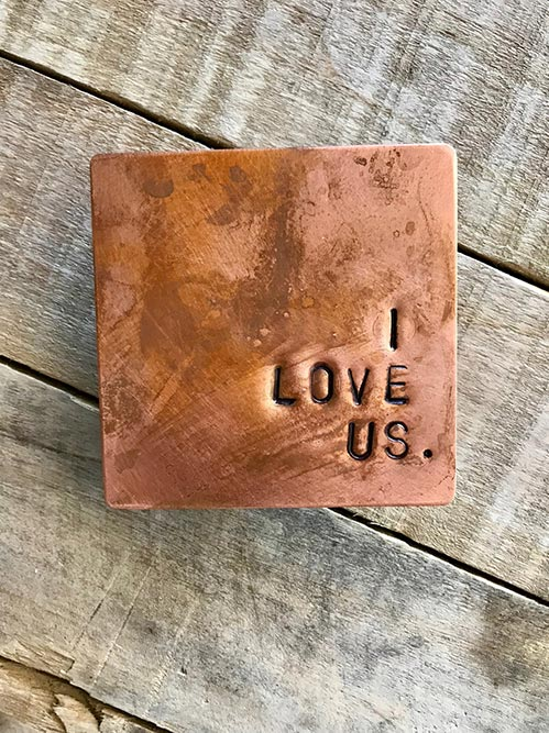 Hand-stamped Copper