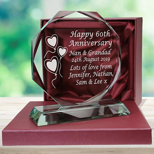 Happy 60th Anniversary Engraved Plaque