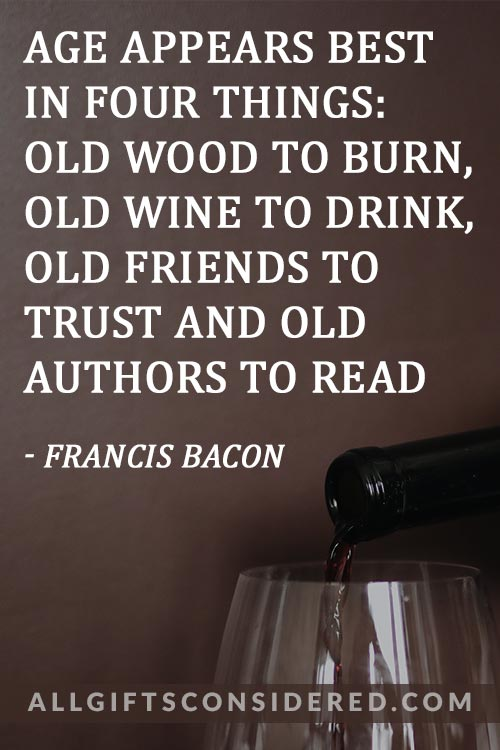 Classy Wine Quotes: Old Books Old Wine