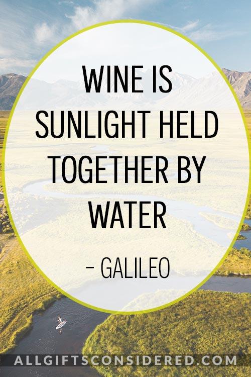 Galileo Wine Quotes