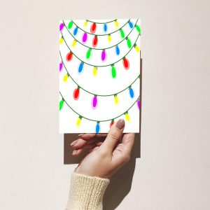 Holiday Lights Christmas Card