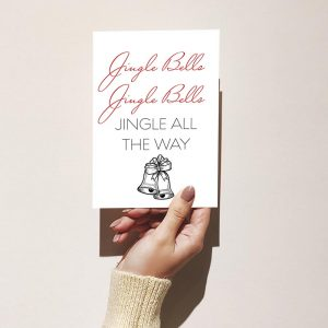 Jingle Bells Merry Christmas Greeting Card