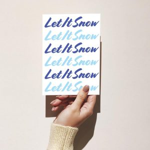 Let It Snow Merry Christmas Greeting Card