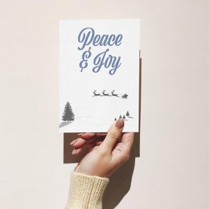 Peace & Joy Merry Christmas Greeting Card