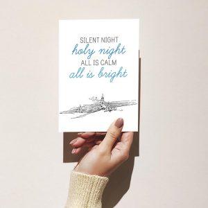 Silent Night, Holy Night Merry Christmas Greeting Card