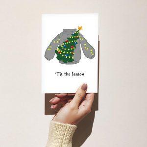 'Tis the Season Merry Christmas Greeting Card
