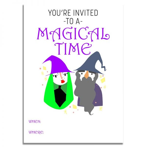 5x7 Magical Time Halloween Invitation Download