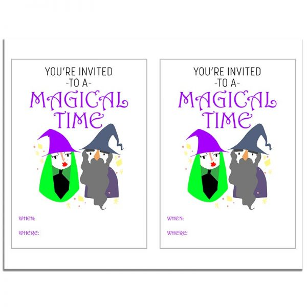8.5x11 Magical Time Halloween Invitation Download