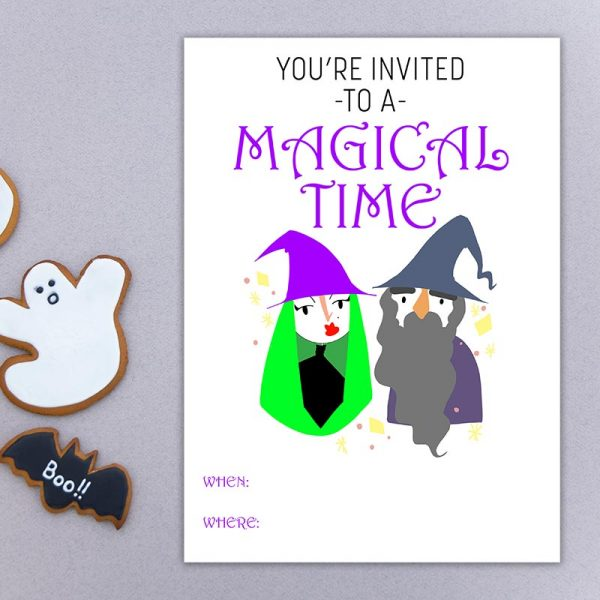 Magical Time Halloween Invite
