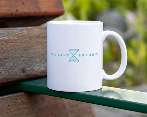 White DNA Mutant & Proud Mug