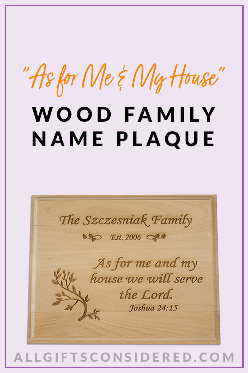 Wooden Family Plaques